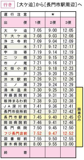 乗り合い時刻表A
